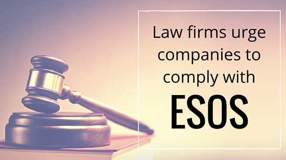 Law firms urge companies to comply with ESOS legislation