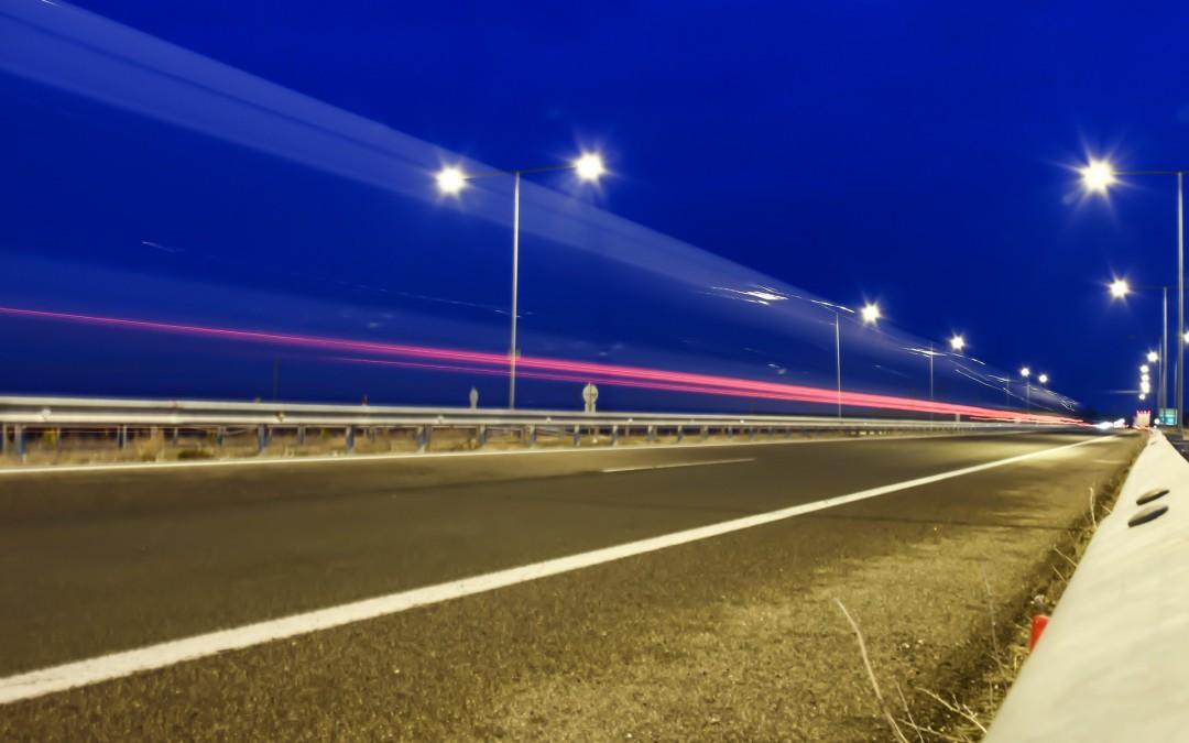 LEDs Installed on UK Motorway