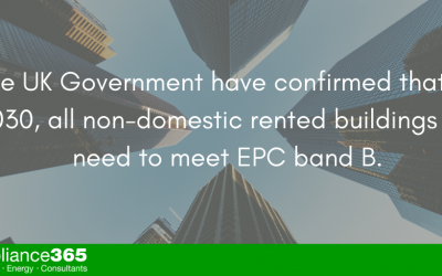 Non-domestic rented buildings will need to meet EPC band B by 2030