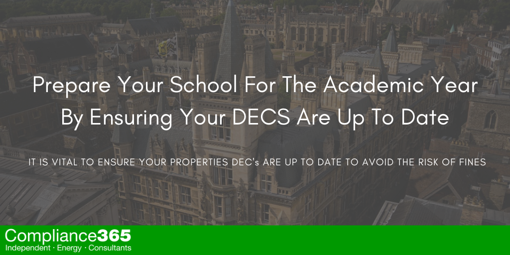 Prepare Your School For The Academic Year By Ensuring Your DECS Are Up To Date
