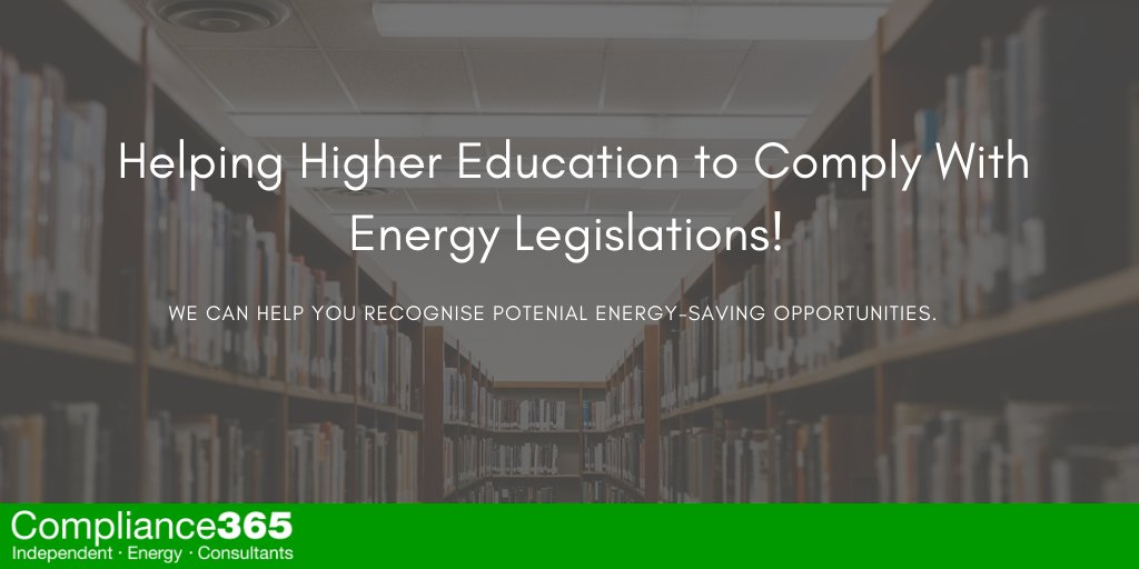 Helping Higher Education to Comply with Energy Legislations!